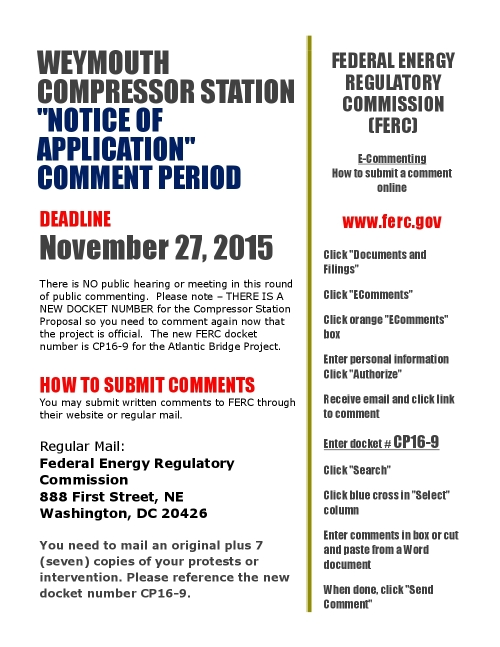 Comment Period November 2015 PDF